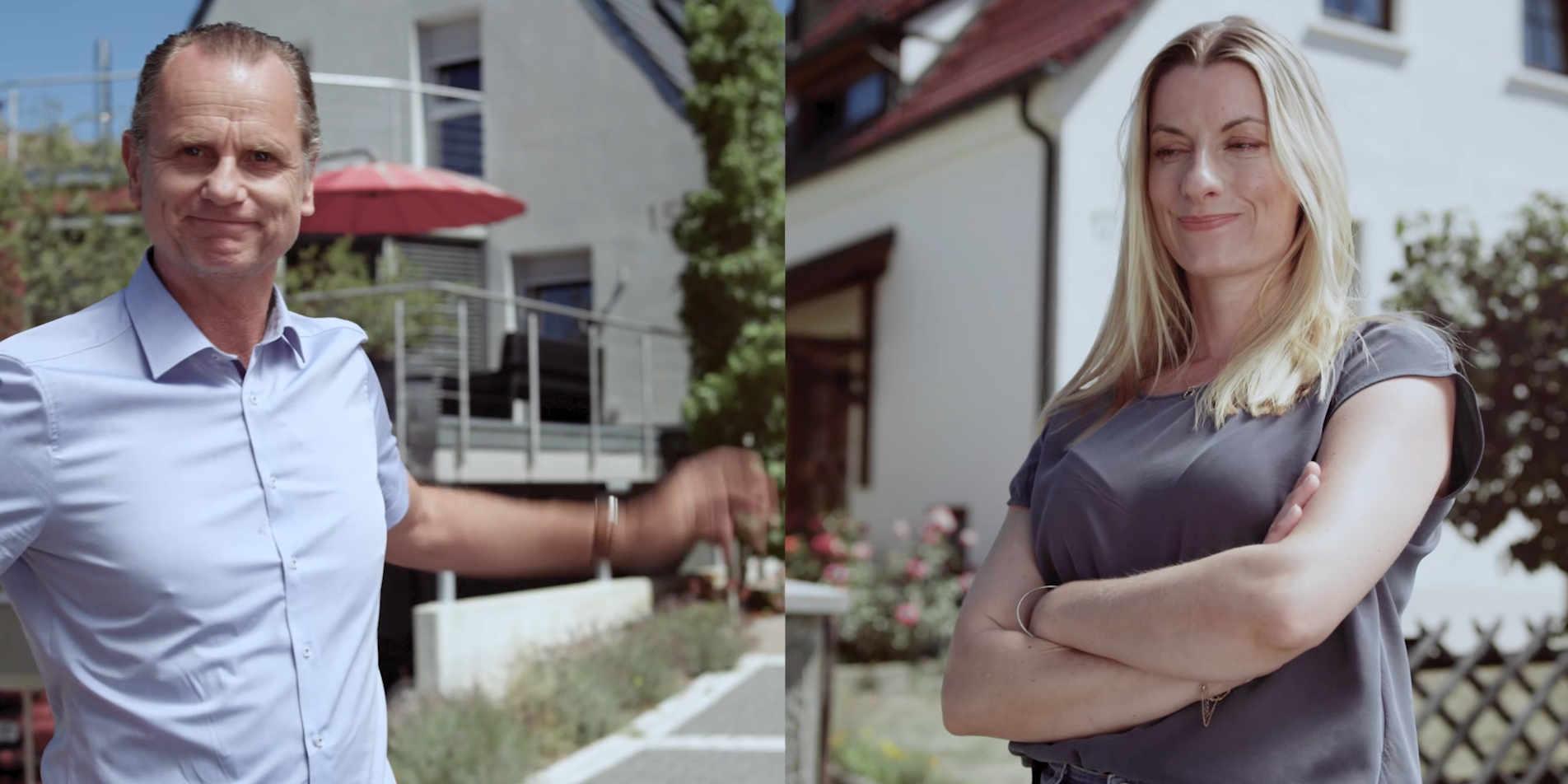 """Die Nachbarn Nina und Jörg hat der Ehrgeiz gepackt. Wer ist der größere Sparfuchs in Sachen Energie? In Folge 1 der Mini-Serie """"Die Energie-Spar-Challenge"""" setzen die beiden alles in Gang, um einander zu übertrumpfen."""