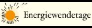 Logo Energiewendetage mit einer Sonne, die ihre Strahlen verliert wie eine Pusteblume ihre Blätter