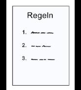 Papier mit drei Regeln